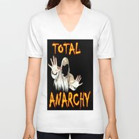 sons of anarchy V-neck T-shirts featuring ANARCHY  by Robleedesigns