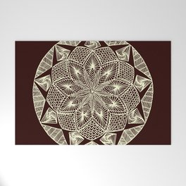 Maroon Mandala Welcome Mat