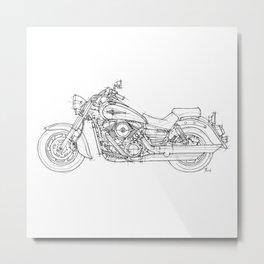 KAWASAKI VULCAN 1600 CLASSIC 2006 Metal Print