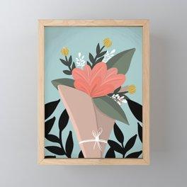 Flower Truck Bouquet Framed Mini Art Print