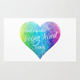 Let's make being kind cool Rug