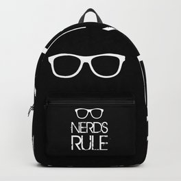 Nerds Rule Grunge Typography Backpack