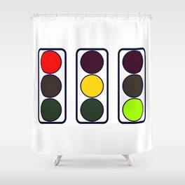 Traffic Lights Shower Curtain