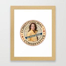 Constitutional Conservative Michele Bachmann Framed Art Print