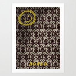 Bored Smiley Art Print