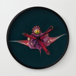Bubble Monster Wall Clock