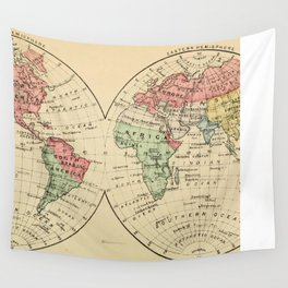 Vintage Map of The World's Religions (1883) Wall Tapestry