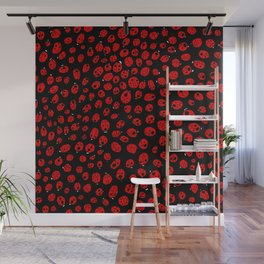 Ladybugs (Red on Black Variant) Wall Mural
