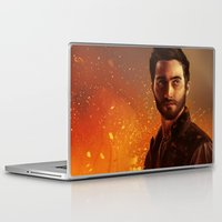 derek hale Laptop & iPad Skins featuring Hale fire  by Inkforwords