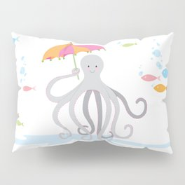 Sweet octopus with a Parasol Pillow Sham