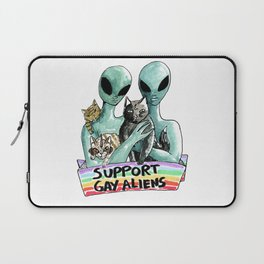 support gay aliens Laptop Sleeve