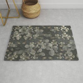 """""""Nacre pearls on silver river"""" Rug"""