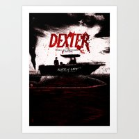 dexter Art Prints featuring Dexter by Dan K Norris