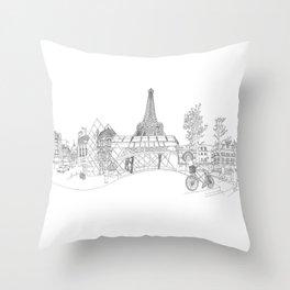 Paris! Version#1 Throw Pillow