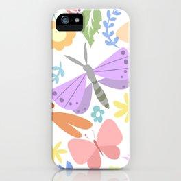 summer garden with butterflies iPhone Case