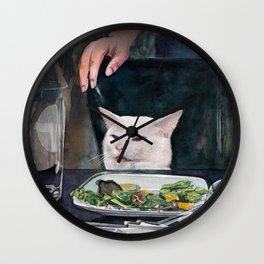 Woman Yelling at Cat Meme-2 Wall Clock