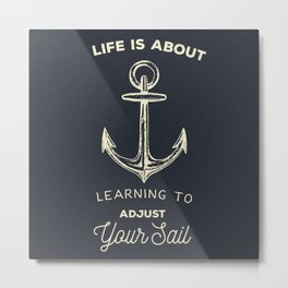 Learn to Adjust your Sail Metal Print