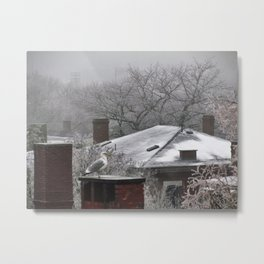 Ice and Fog in Portland, Maine (1) Metal Print
