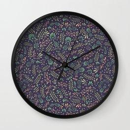 Pastel Flower Ditsy Pattern Wall Clock