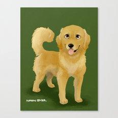 Golden Dog Canvas Print