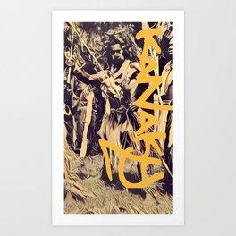 kanaky warrior Art Print