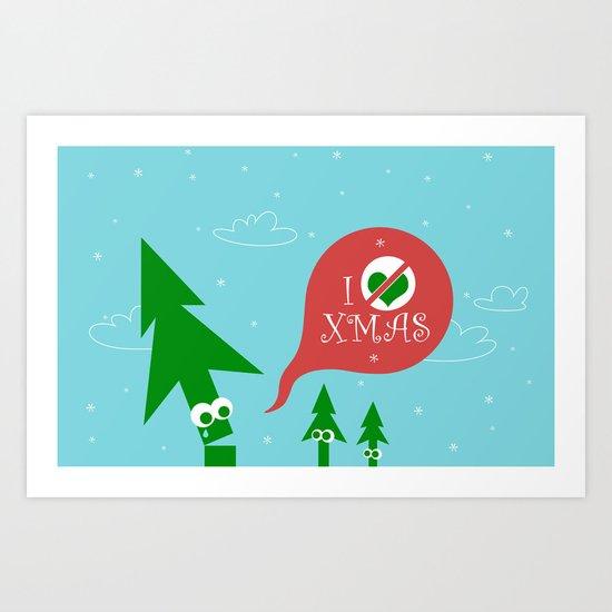 Greestmas. Save Xmas Trees Art Print
