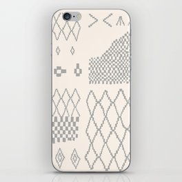 Moroccan Patchwork in Cream and Grey iPhone Skin