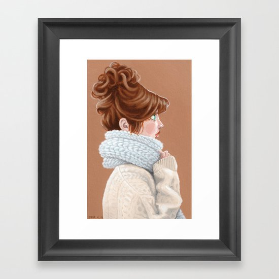 Bundle up Framed Art Print