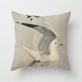 Vintage Illustration of a Seagull (1902) Throw Pillow