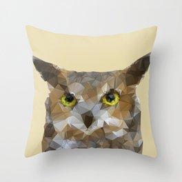 Polygonal Owl Throw Pillow