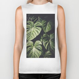 Monstera - Tropical Forest - nature photography Biker Tank