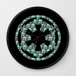Imperial Cog Mint AT-AT's and Gray Chevrons Wall Clock