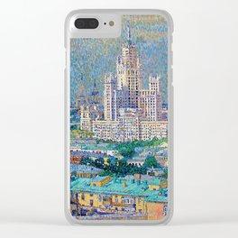 Skyscraper on Kotelnicheskaya Embankment Clear iPhone Case