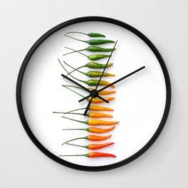Hot Pepper Gradient Wall Clock
