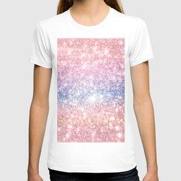 Pastel Galaxy Sparkle Stars T-shirt