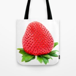 Srawberry on White Tote Bag