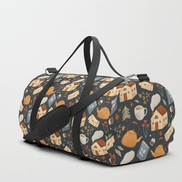 Cozy Cottage Pattern Duffle Bag