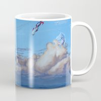 life aquatic Mugs featuring Aquatic Skies by BAM! Arts