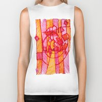 30 rock Biker Tanks featuring 30 by Pedro Ossa
