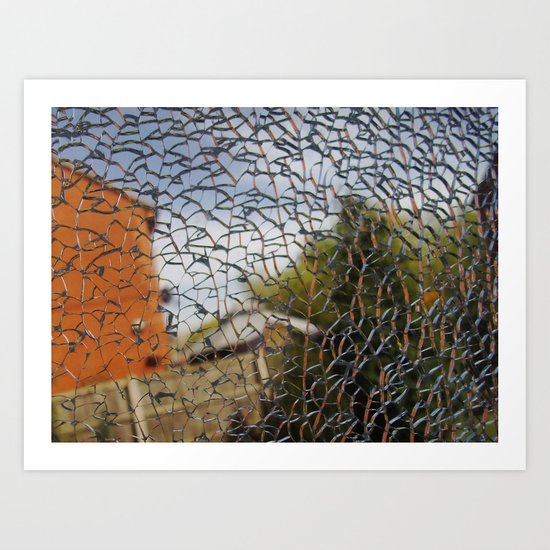 Broken Glass Art Print