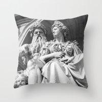 vienna Throw Pillows featuring Vienna statue by Veronika