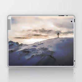 Christian Cross On Mountain Laptop & iPad Skin