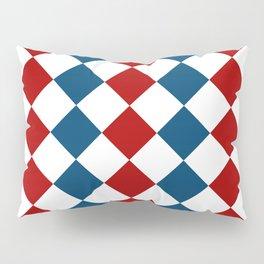 Aquamarine blue and red square pattern Pillow Sham