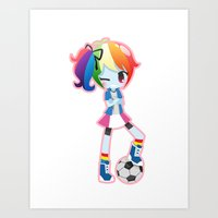 mlp Art Prints featuring MLP - Rainbow Dash by Choco-Minto