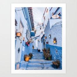 Chefchaouen steps Art Print