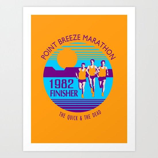 Point Breeze Marathon Art Print