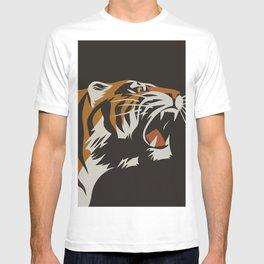 Tiger, Vintage Minimalist Art T-shirt