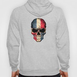 Dark Skull with Flag of Dominican Republic Hoody