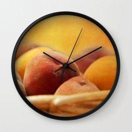 Fuzzy Peach Wall Clock