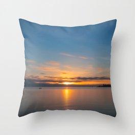 Nostalgic feel going into sunset Throw Pillow